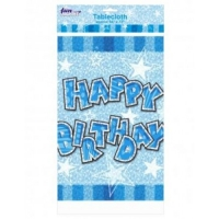 glam birthday blue party tablecover 54*72""