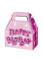 3 pack Pink glitz party boxes