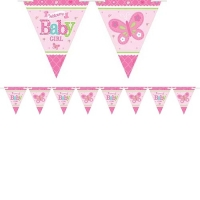 Girls's Baby Shower With Love Flag Banner Party Decoration