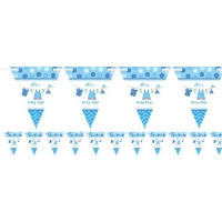 Boy's Baby Shower With Love Flag Banner Party Decoration