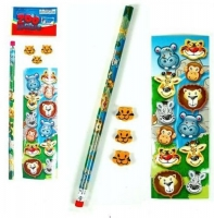 5 piece stationary set jungle style loot bag filler