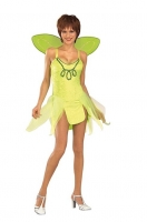 Ladies Green Forest Fairy Style Fancy Dress Costume Size 10-14