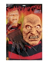 Mens Halloween Fancy Dress Costume Freddy Kruger Kit