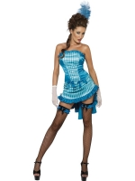 1920's Fever Flapper Elegant Lady Fancy Dress Costume