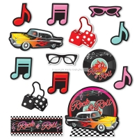 1950's Theme Party Classic Rock and Roll Cutout Decorations