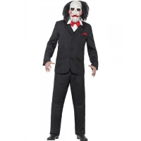 Mens Halloween Saw Jigsaw Fancy Dress costume