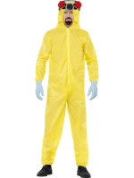 Mens Halloween Costume breaking bad Yellow jumpsuit