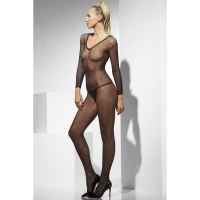Ladies Fancy dress Black Fishnet body stocking