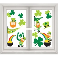 St Patrick's Day Window Clings Party/ Celebration Decoration 13 Stickers Included