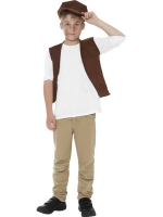 Urchin waistcoat and hat boys fancy dress One size 5-10 yrs