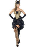 Kitty Leopard Print Burlesque Costume