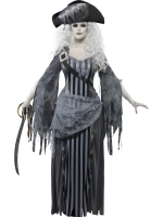 Ladies Ghost Ship Princess Halloween Fancy Dress Costume