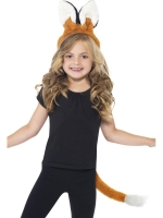 Fantastic Fox head band and tail set unisex one size