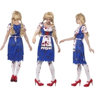 Zombie Bavarian Female Halloween Fancy Dress Costume