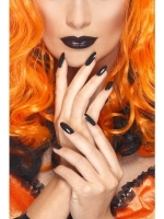 Halloween Fancy Dress Gothic Black Nail Polish and Lipstick Set