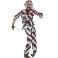 Zombie Convict Halloween Fancy Dress Costume