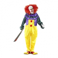 Men's Classic Scary Horror Clown Fancy Dress Costume