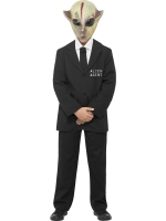 Kids Men In Black Alien Agent Fancy Dress Costume