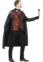 Mens Halloween Dark Opera Masquerade Costume