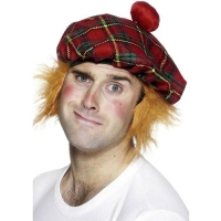Tam-O-Shanter Scottish Tartan Fancy Dress Hat