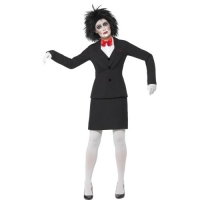 Ladies Halloween Saw Jigsaw Fancy Dress costume