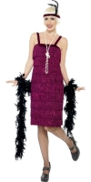 Burgundy Flapper Dress