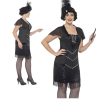 Ladies Flapper 1920's Gatsby Girl Plus Size Curves Fancy Dress Costume