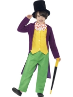 Roald dahl Willy Wonka fancy dress costume boys