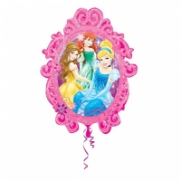Princesses Frame SuperShape Foil Balloon Disney Birthday Party Decoration
