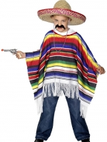 Childrens Fancy Dress Mexican Poncho