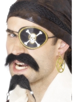 Pirate Eyepatch And Earing Set