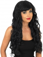 Long Black Temptress Wig