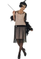 Ladies Coco 1920s Flapper Fancy Dress Costume