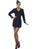 Ladies Stewardess Flight Attendant Fancy Dress Costume