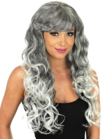 Long GreyTemptress Wig