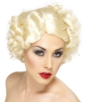 1920's short Blonde curly Monroe Flapper Wig