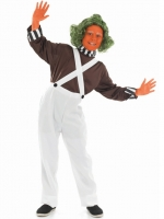 Oompa Loompa Kids Factory Worker Costume
