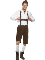 Mens Oktoberfest Lederhosen Bavarian Costume - Brown