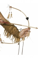 Native American Inspired Feathered Bow and Arrow Set Fancy Dress Accessory