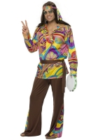Men's Brown Hippy Costume