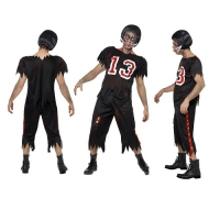 Zombie High School Horror American Footballer Mens Halloween Fancy Dress Costume