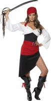 Ladies Sassy Pirate Wench Fancy Dress Costume