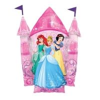 Multi Princess Castle SuperShape XL Foil Balloon Disney Birthday Decoration