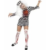 Ladies Halloween Zombie Convict Costume