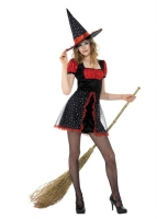 Girls Halloween Fancy Dress Teen Star Witch Costume