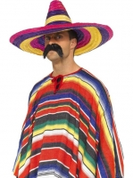 Mexican/ Spanish Sombrero Straw Large Multi-Coloured Fancy dress Hat