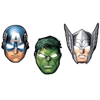 8 Marvel Avengers Paper Face Masks Children's Birthday