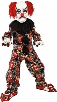 Boys Halloween Scary Clown Fancy Dress Costume