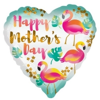 "Mother's Day Happy Mother's Day Flamingo Balloon - 18"" Foil"
