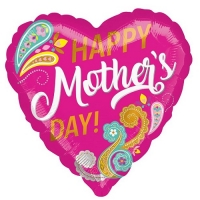 "Mother's Day Happy Mother's Day Paisley Balloon - 18"" Foil"